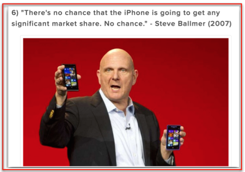 Ballmer iPhone no chance