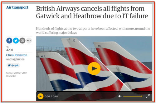 British airways cancels flights