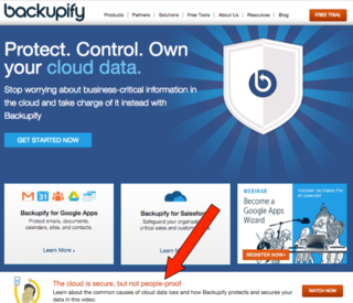 Backupify - Cloud Secure, People no