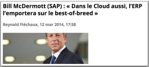 SAP Mac Dermot Bess of breed vs intégré