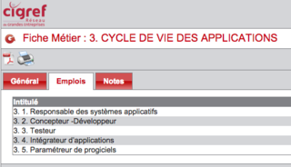 CIGREF Cycle de vie des applications