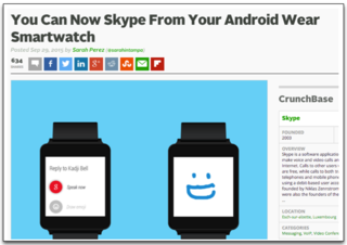 Skype on Android Wear