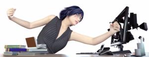 DPC angry computer woman S 62924230