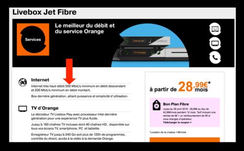 Offre Orange grand public 500 Mb:s