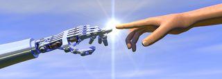 DPC 2 hands Robot man AI S 87299269