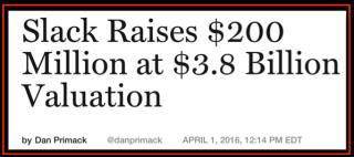 Slack value 3.8B$