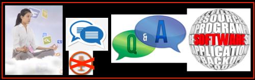 ChatQ&A Woman & Software Communication