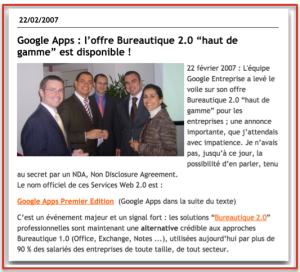 Blog LN Google Apps 2007
