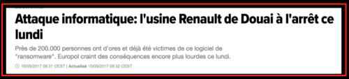 Usine Renault à l'arrêt
