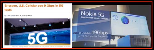 Experiments 5G - Nokia & Ericsson