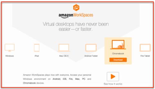 Workspace AWS on Chromebooks
