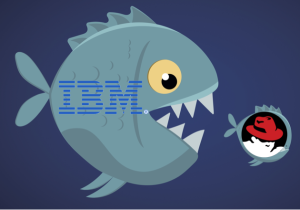 IBM eat Red Hat fish