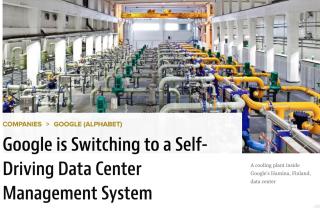 Google Self driving Data Center
