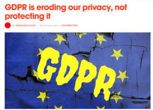 GDPR eroding privacy
