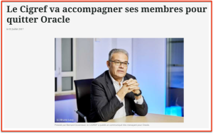 CIGREF contre Oracle