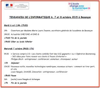 Conférence éducation nationale Besançon 10:2015