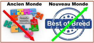 Fournisseurs ancien nouveau monde Best of breed vs ERP