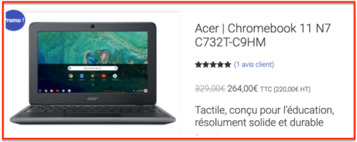 Acer chromebook édu 2