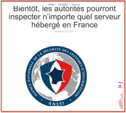 ANSSI Accès serveurs en France
