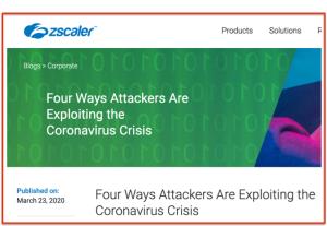 Zscaler help for Coronavirus
