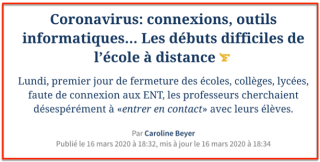Education Nationale & Coronavirus