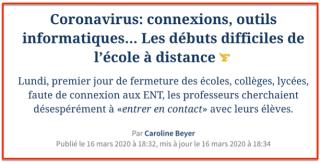 Education Nationale & Coronavirus
