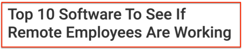 Employee monitoring top 10 software