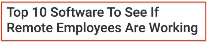 Employee monitoring top 10 software