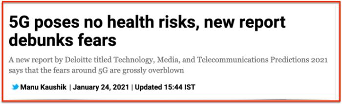 5G no risks