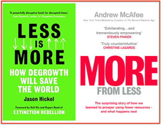 Two Books covers More & Less