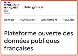 Open Data Gouvernement français